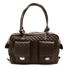 Alex Cambon Quilted Dog Carrier by Kwigy Bo - Brown