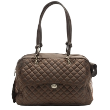 Alexa Cambon Quilted Dog Carrier by Kwigy Bo - Brown
