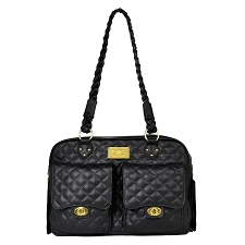 Alexander Quilted Bag by Dogs of Glamour-Black