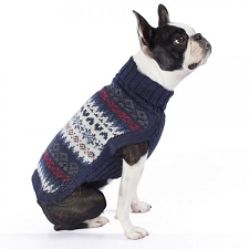 Fall Medley Blue Alpaca Dog Sweater