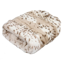 Cuddle Cup Dog Bed -Arctic Snow Leopard