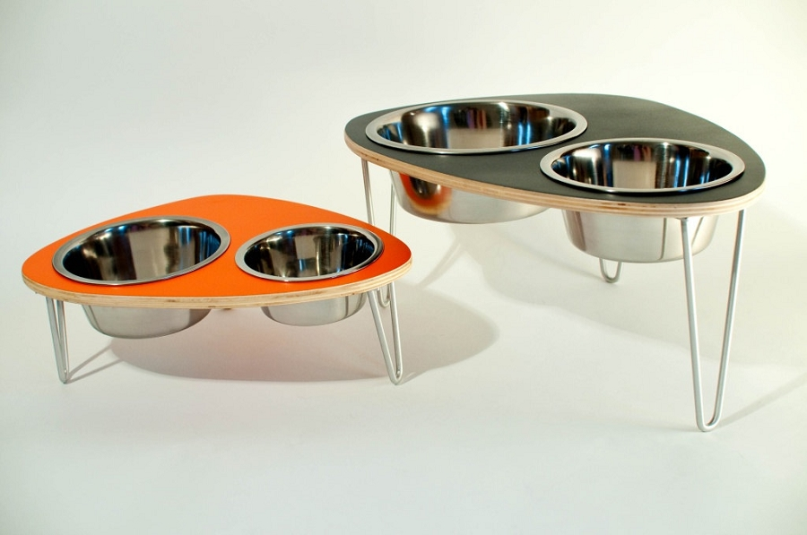 elevated diner feeder w dog cat supplies ac raised stainless stand pet food water funkeen removable set dp bowls