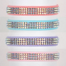 Aurora Borealis Swarovski Crystal Dog Collar - 20 Colors