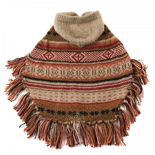 Autumn Joy Alpaca Hooded Dog Poncho
