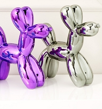 Balloon Dog Bank- Silver