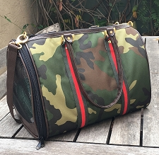 Barcelona Camo Stripe Dog Carrier