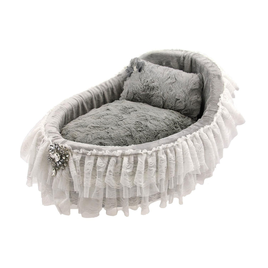 Bassinet Dog Bed In Sterling Glamour Mutt