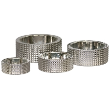 Berlin Studded Silver Dog Bowl