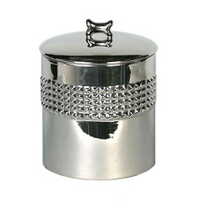 Berlin Studded Silver Dog Treat Jar