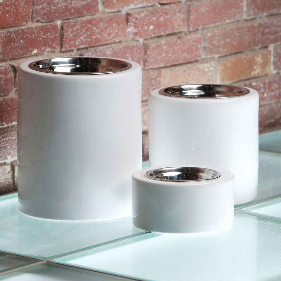 Bianco Contempo High Rise Dog Bowls Elevated Dog Feeders