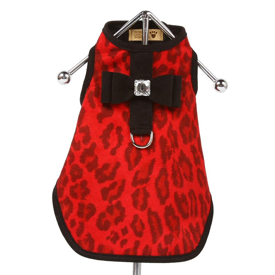Susan lanci bailey dog coat in savannah red dog coats at glamourmutt