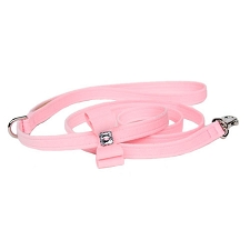 Big Bow Swarovski Crystal Ultrasuede Dog Leash - 20 Colors