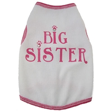 Big Sister Rhinestone Dog Shirt