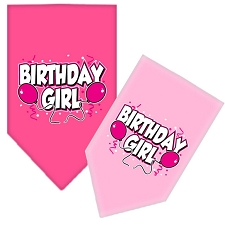 Birthday Girl Balloon Dog Scarf
