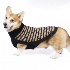 Black and Tan Luxury Suri Alpaca Dog Sweater