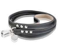 Royal Leather Dog Leash - Black