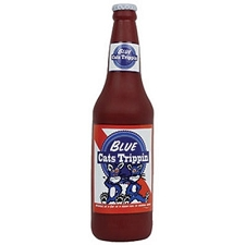Blue Cats Trippin Beer Toy