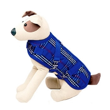 Classic Horse Blanket Dog Coat - Blue