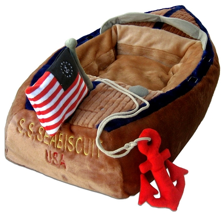 Ahoy Boat Dog Bed By Haute Diggity Dog Novelty Dog Beds