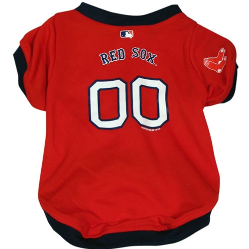 timeless design 68bfe 0312b Boston Red Sox Dog Jersey | Officially Licensed Pet Clothes at  Glamourmutt.com