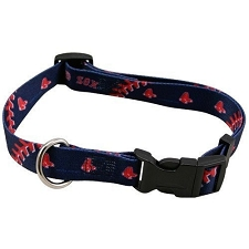 Boston Red Sox Nylon Dog Collar