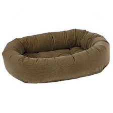 Microvelvet Donut Dog Bed - Houndstooth