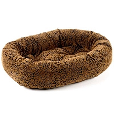 Microvelvet Donut Dog Bed - Urban Animal Leopard Print