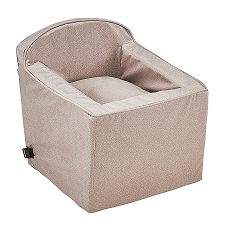 Microvelvet Car Booster Seat for Dogs - Sandstone