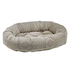 Microvelvet Donut Dog Bed -Chantilly