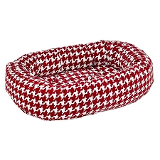Microvelvet Donut Dog Bed - Canterbury Houndstooth