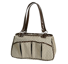 Brooklyn Dog Carrier by PETote - Noir Dots