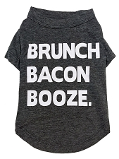 Brunch Bacon Booze Dog T-Shirt
