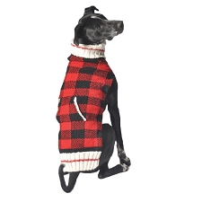 Buffalo Plaid Dog Sweater by Chilly Dog
