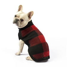 Buffalo Plaid Handknit Alpaca Dog Sweater
