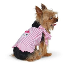 Bunny Hop Reversible Pink Dog Dress