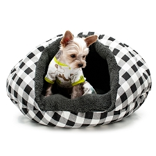 Burger Bed- Black Checkers