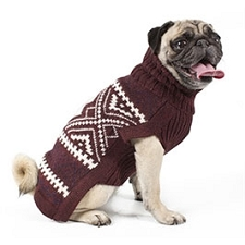 Burgundy Glam Alpaca Dog Sweater