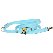 Butterfly Swarovski Crystal Dog Leash - 20 Colors