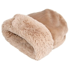 Cuddle Cup Dog Bed - Camel Shag