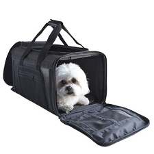 Carle Dog Carrier by PETote - Ballistic Black
