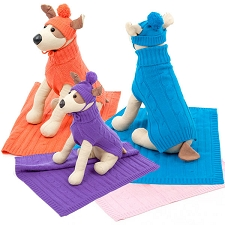 Cashmere Dog Blankets - Orange, Purple, Blue, Pink