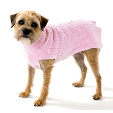 Cashmere Dog Sweater- Baby Pink