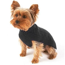 Cashmere Dog Sweater- Black