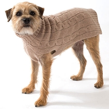 Cashmere Dog Sweater- Camel