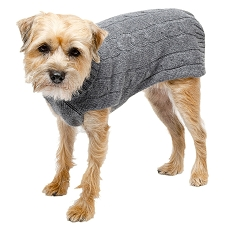 Cashmere Dog Sweater- Gray