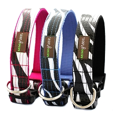 Cebra Loca Zebra Oil Cloth Dog Collar