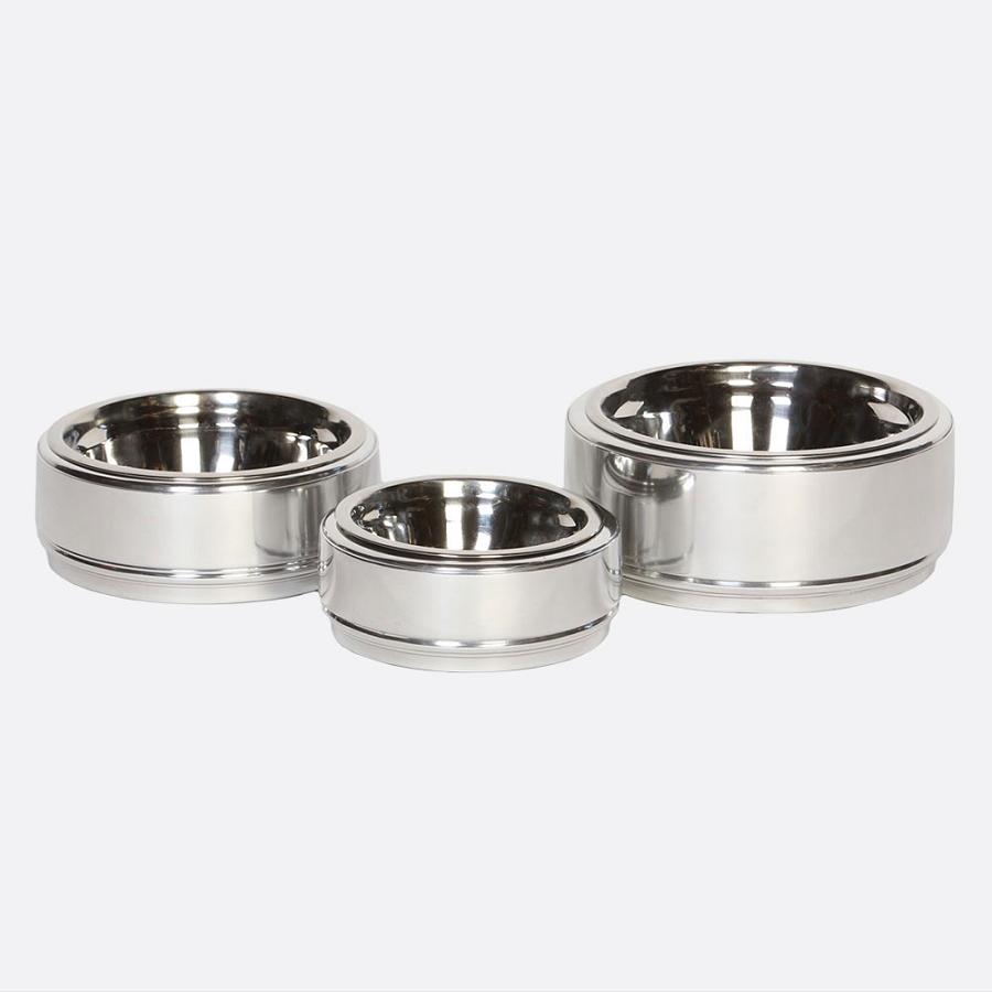 Chadwick Polished Silver Dog Bowl At Glamour Mutt