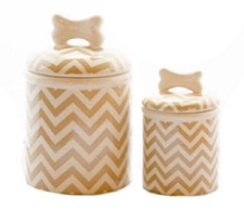Chevron Khaki Stripe Treat Jars