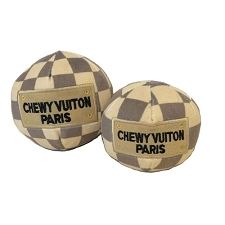 Chewy Vuiton Checker Ball Toy