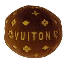 Chewy Vuiton Monogram Dog Ball Toy